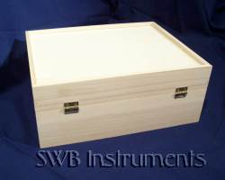 10x8x4 inch wood box, rear view. Other sizes available.